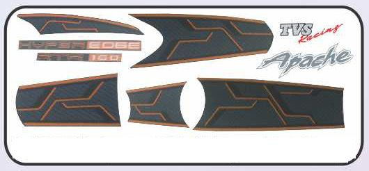Safe-x Motorcycle Fairings And Mudguards-Tvs Apache rtr 160