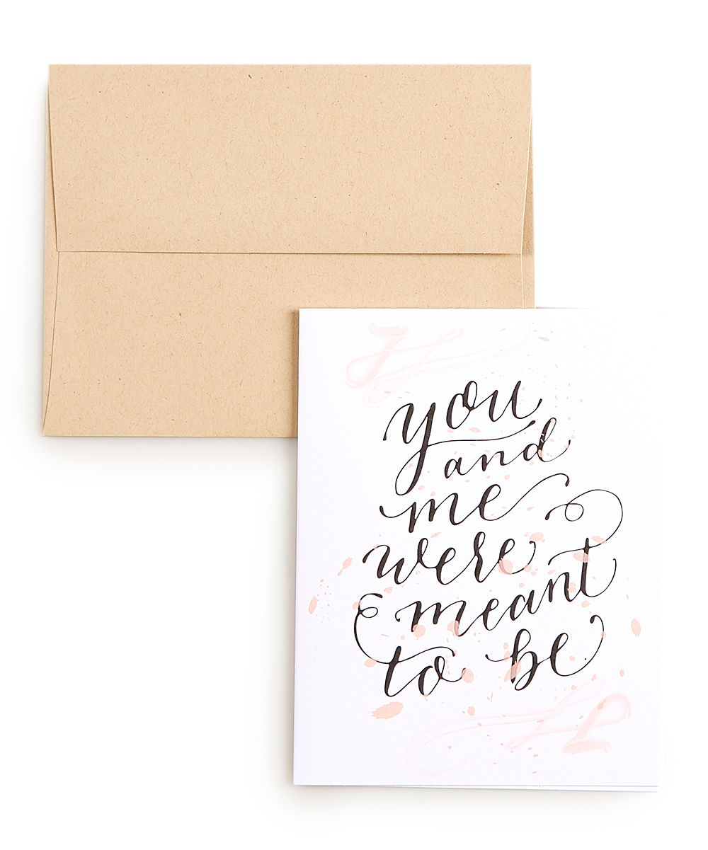 'You & Me are Meant to be' Card - Set of 10