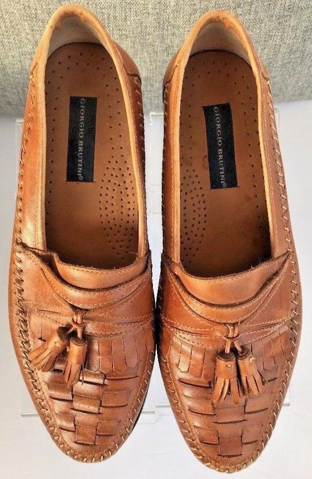 7faac9700df Cole Haan Women Basket Weave With Tassels Leather Loafers Size 8.5 AA Italy  in 2019