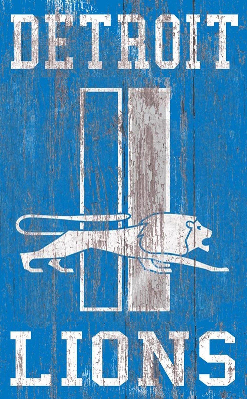 Detroit Lions Distressed Logo 11 x19  Wall Art  sc 1 st  Pinterest & Detroit Lions Distressed Logo 11