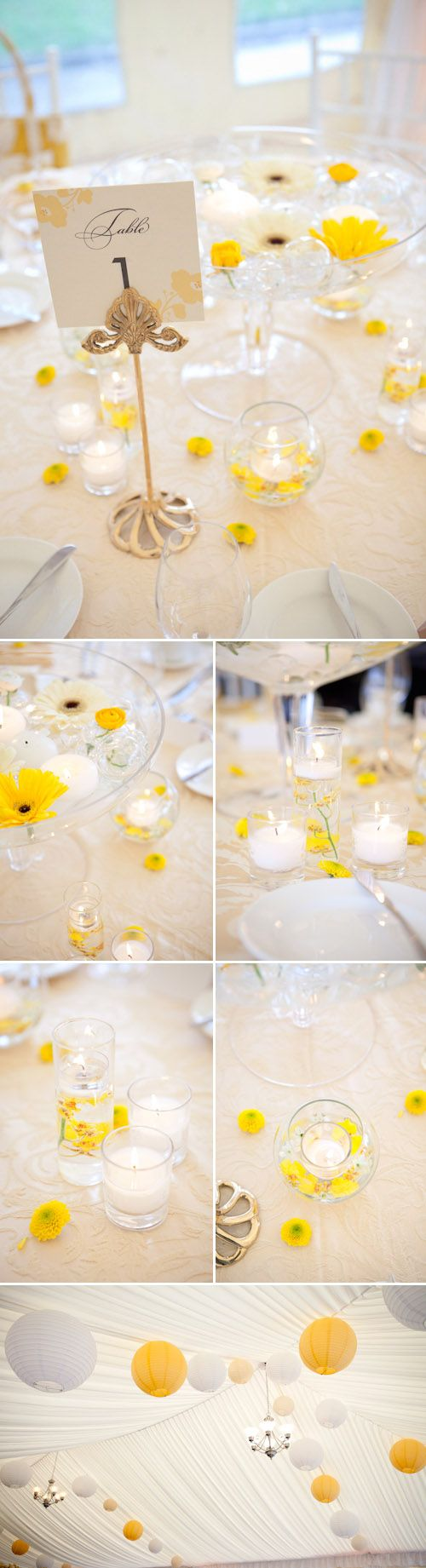 Yellow and White Spring Tabletop Designs from Woodmark Weddings ...