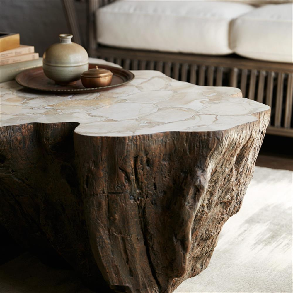 Palecek Chloe Inlaid Fossilized Clam Shell Top Natural Tree Trunk Coffee Table In 2020 Coffee Table Stone Coffee Table Coffee Table Wood [ 1000 x 1000 Pixel ]