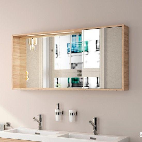 Armario Baño Con Espejo | Armario De Bano Portobello Con Luz Led Salgar 1200x600x160 Mm