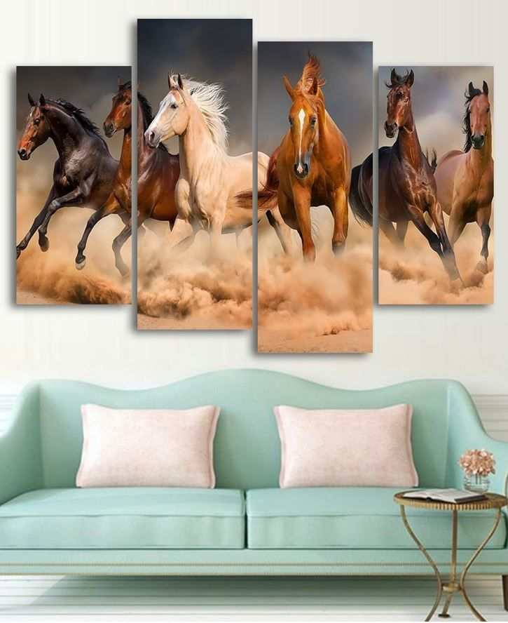 Running Horses Wall Art Hd Most Loved Canvas Arts On Internet Horse Wall Art Horse Wall Canvas Wall Art