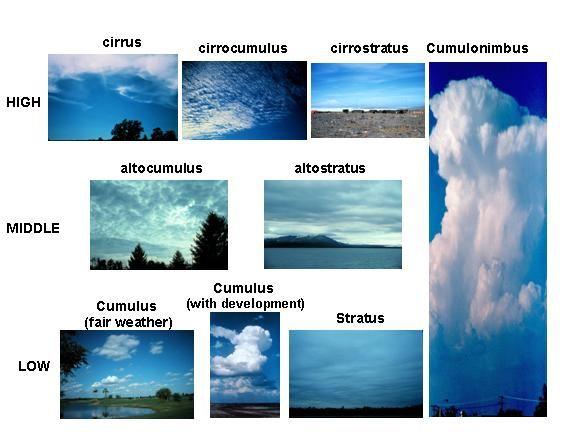 Quoet types of clouds worksheet info
