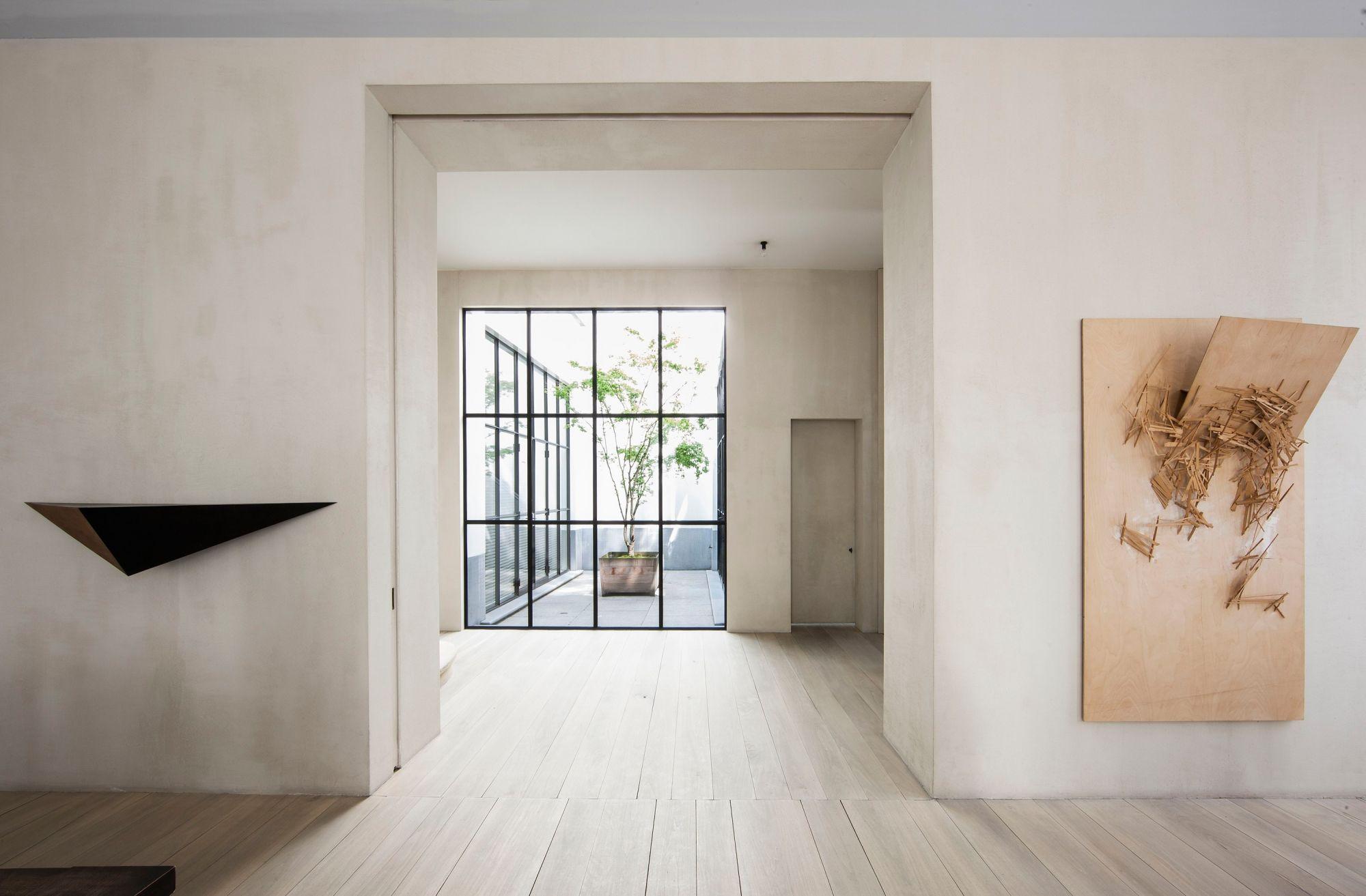 Modernes bungalow innenarchitektur wohnzimmer home  vincent van duysen  doors  pinterest  häuschen