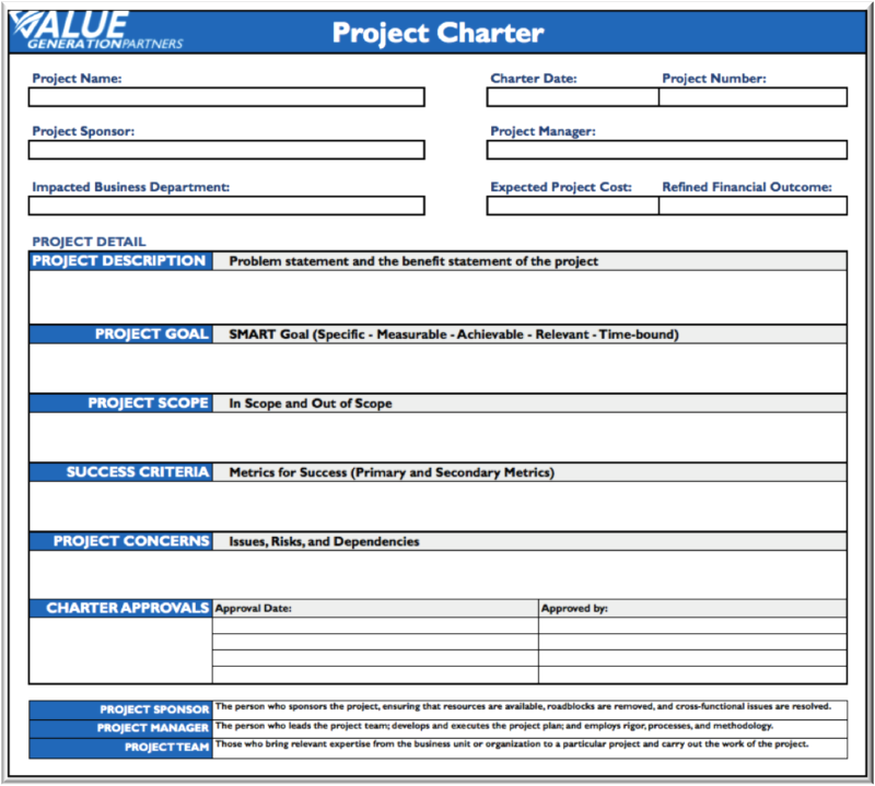 project charters The project management body of knowledge (pmbok) defines a project charter as a document that formally authorizes a project the project charter is no.