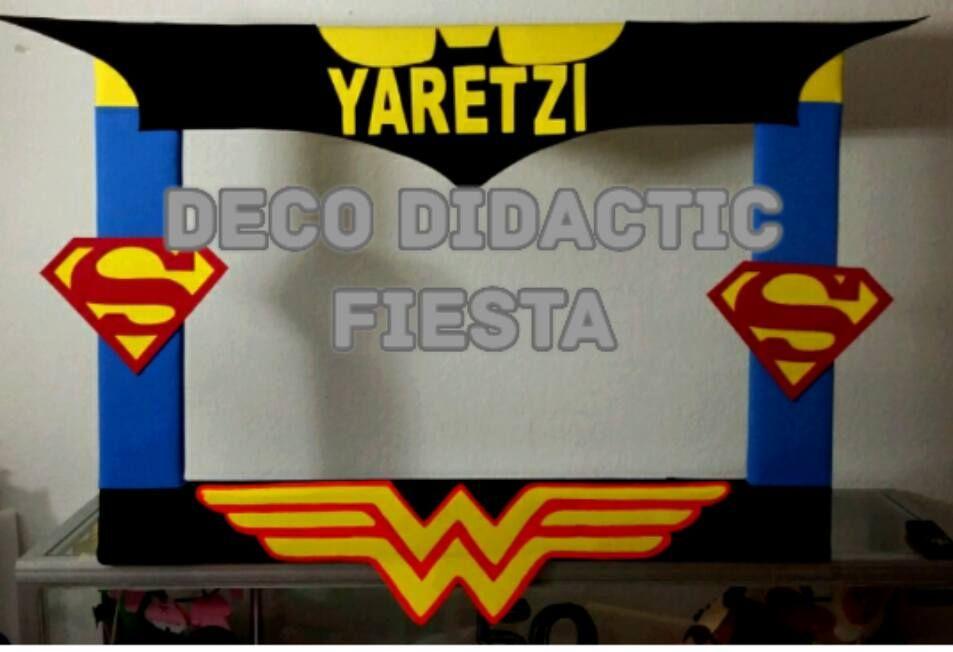 Superheroes Marco Para Foto Fiesta Party Selfie En 2019 Superhero Halloween Y Avengers