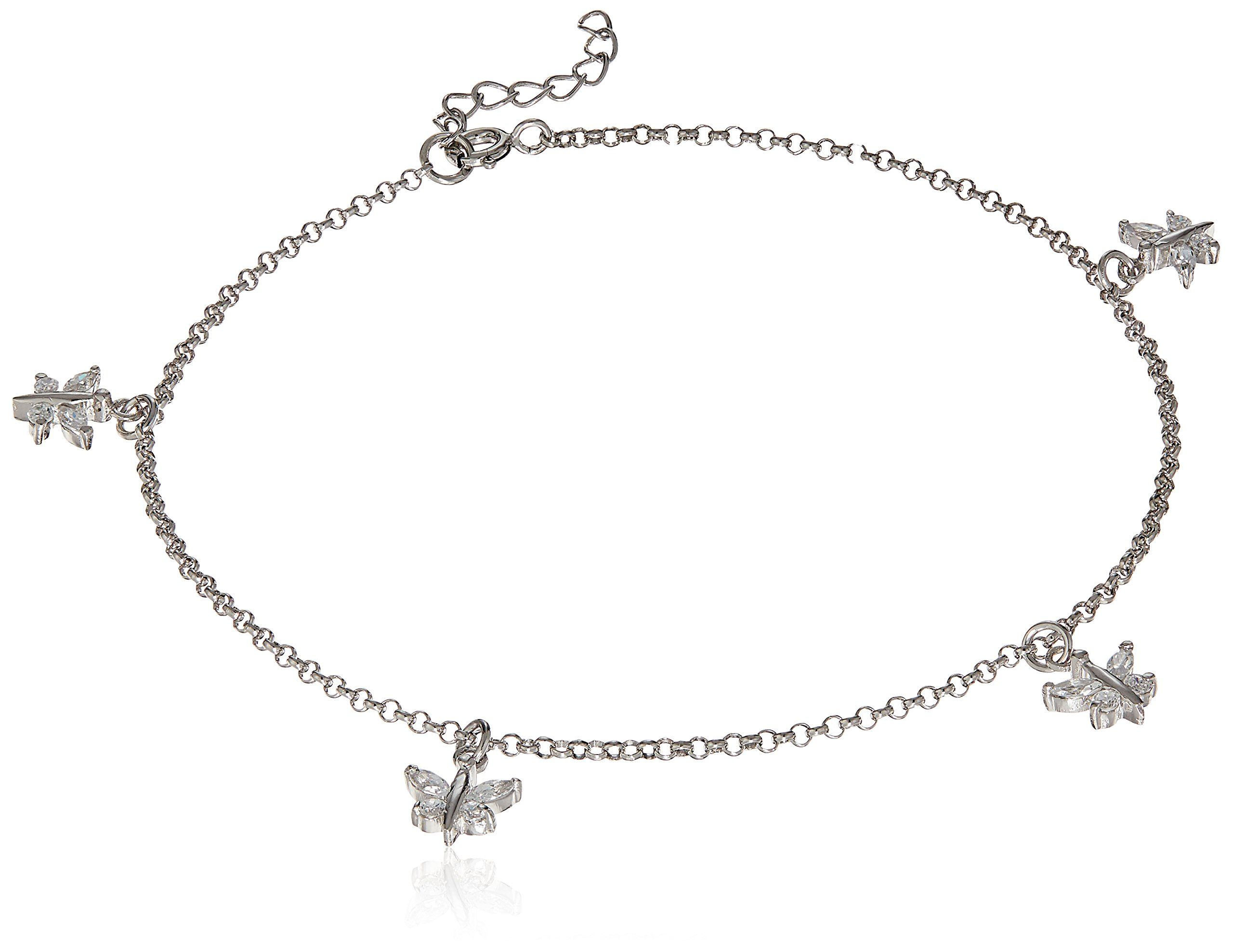 sterling graduated in default anklet cz necklace ct silver zirconia cubic t tennis w