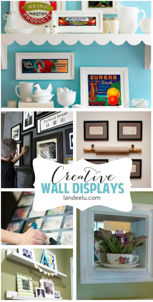 Creative Wall Displays: Gallery Walls and more | For the