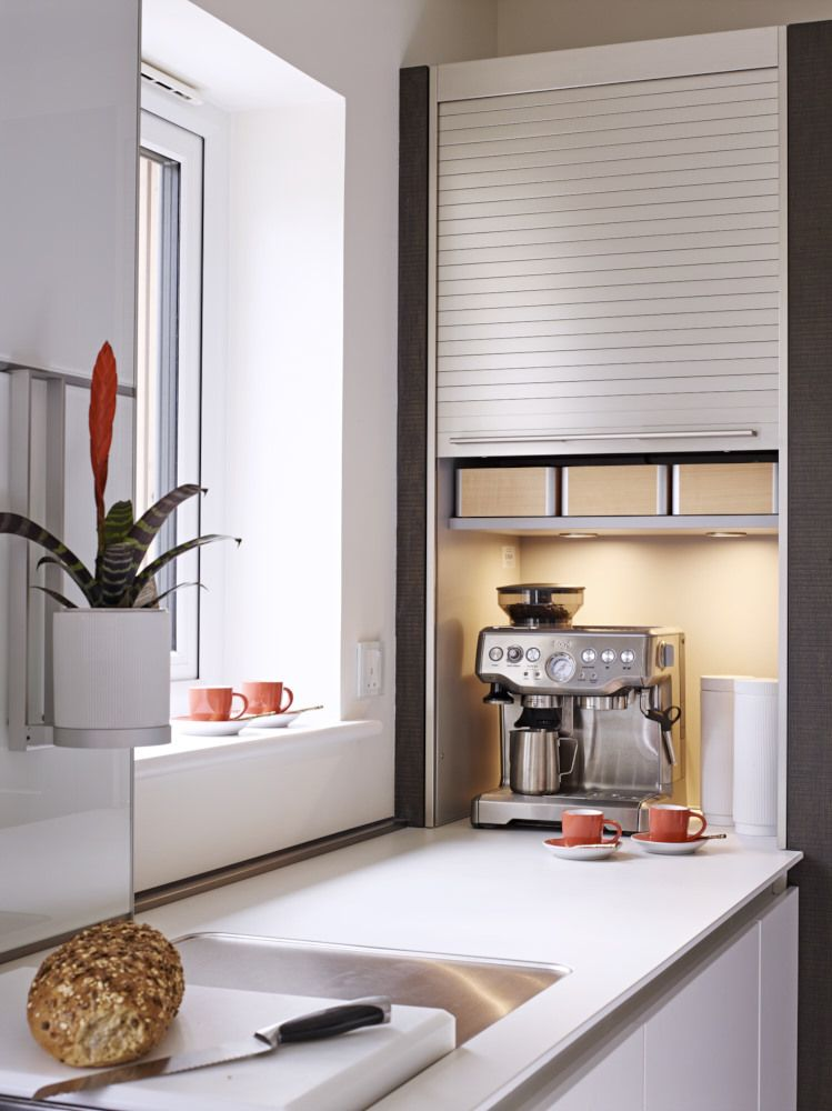Cupboards With Shutter Doors Are Perfect For Neatly