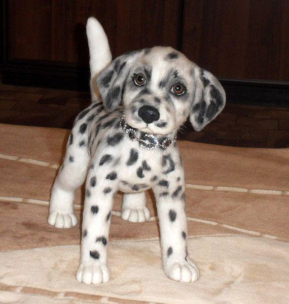 Gift Ot Elena Novikova Na Etsy Felt Toys Needle Felted Dog Felt Animals