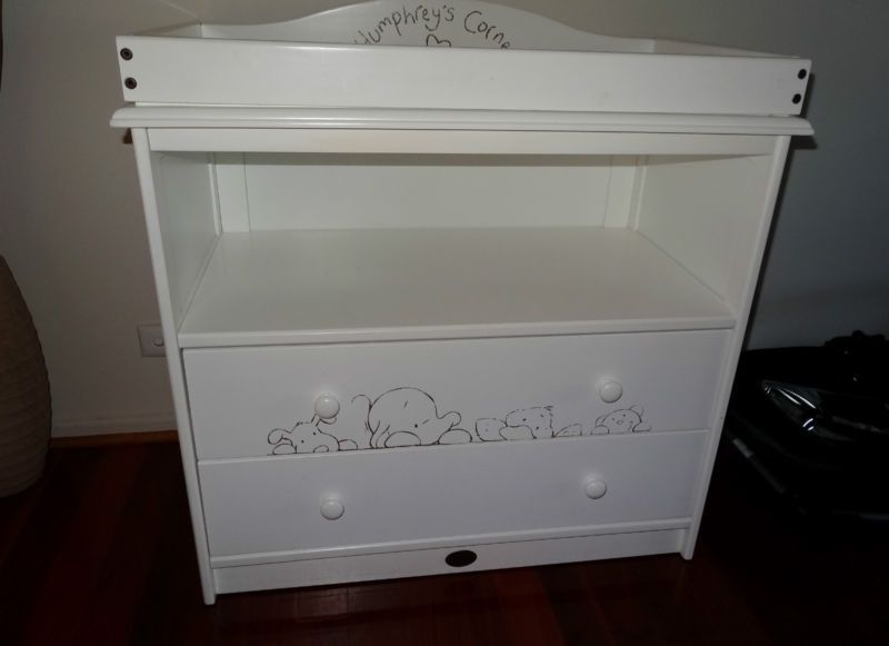 White Change Table Drawers Ebay Changing Table Drawers Table