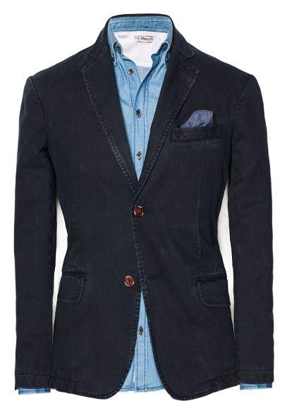 H.E.BY MANGO   Washed cotton blazer $69.99