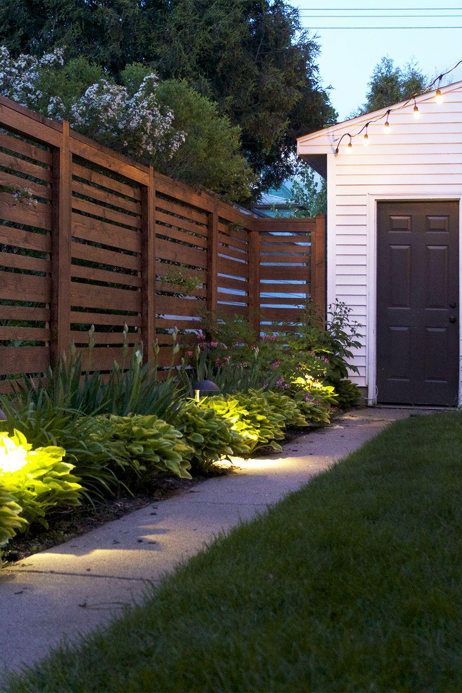 simple landscape lighting backyard