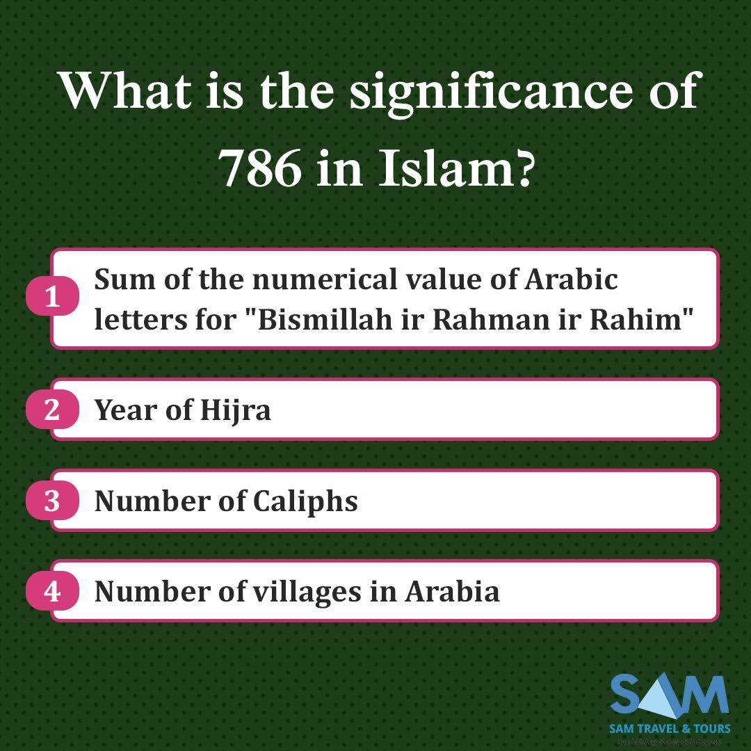 What is the significance of 786 in Islam? 1 Sum of the numerical