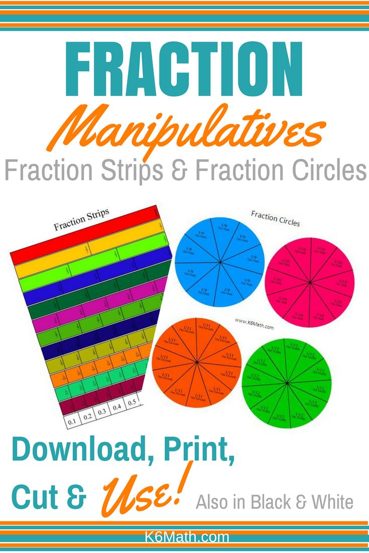 picture regarding Fraction Manipulatives Printable named Printable Portion Manipulitives Portion Strips Portion