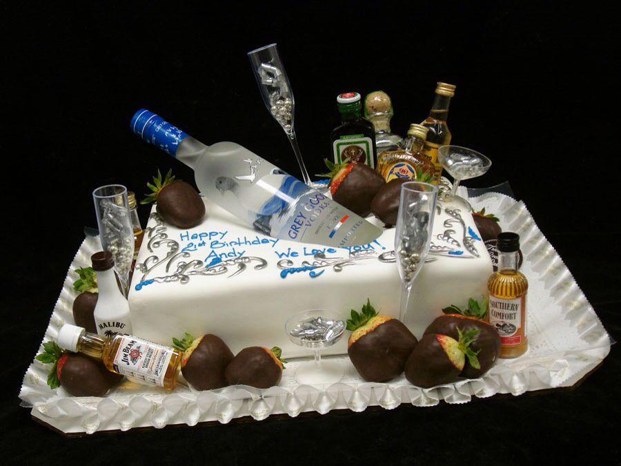 Birthday cake with bottles in Cake ideas Pinterest Birthday