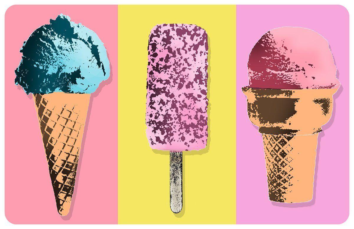 I Delicious Strawberry Ice Cream Art Print Home Decor Wall Art Poster