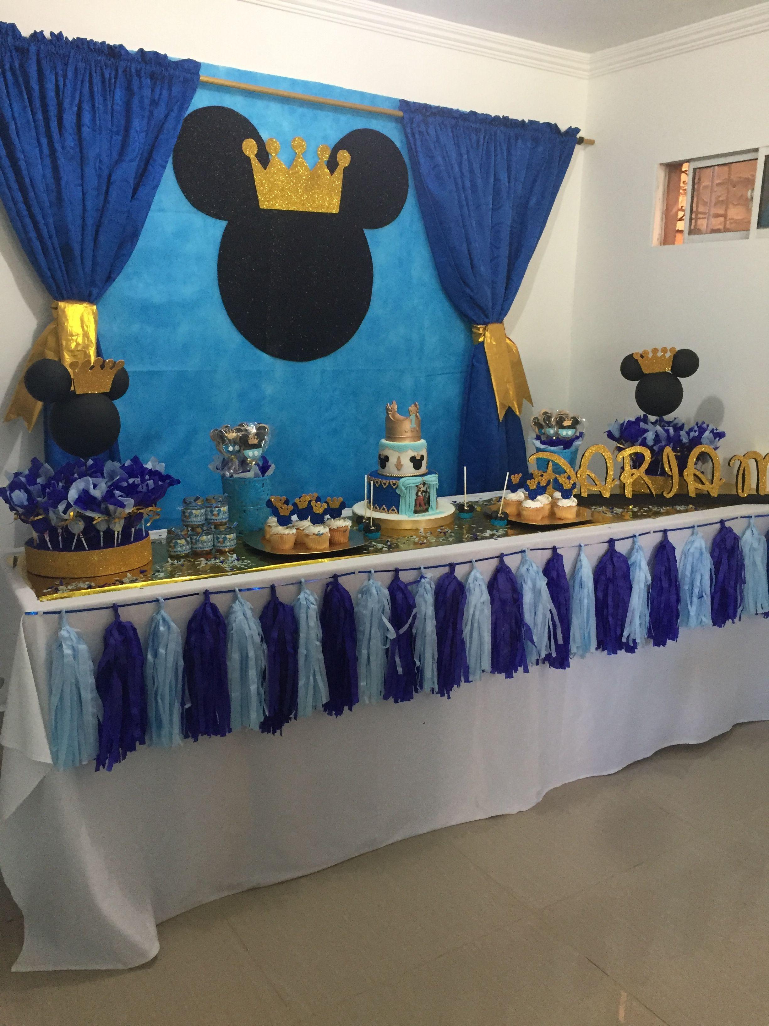 Decoración Fiesta Niñomickey Principe En 2019 Cumpleaños