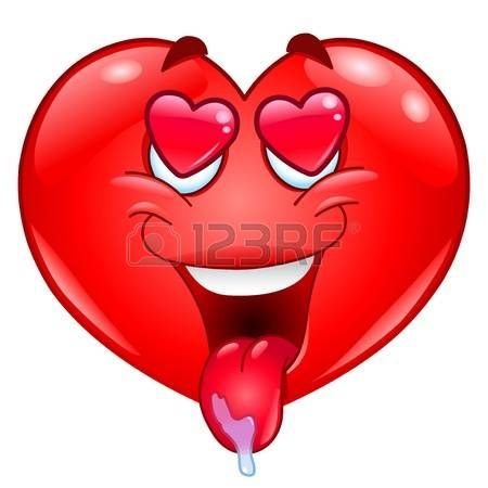 In Liefde Hart Emoticon De Enamorado Imagenes De Emojis Emoticon De Amor