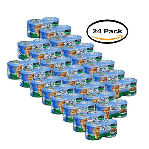 PACK OF 24 9Lives Meaty Pat Super Supper Wet Cat Food 4CT 55Ounce