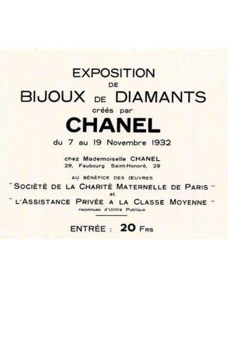 Chanel's Bijoux de Diamants Exhibit and 1932 Collection - Chanel Fine Jewelry