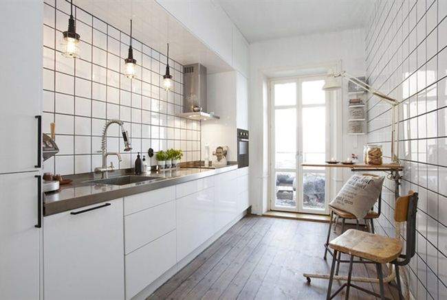 One Sided Galley Kitchen Ideas Google Search In 2021 White Modern Kitchen Kitchen Interior Kitchen Remodel