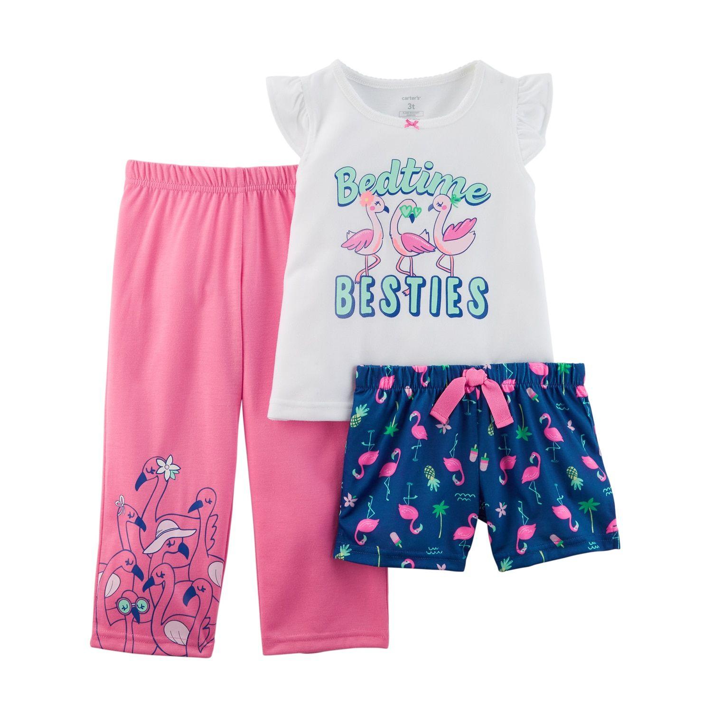 NWT Carter/'s Sz 4T or 5T Girl 4 Piece Giraffe Girls Cotton PJs  Pajamas NEW
