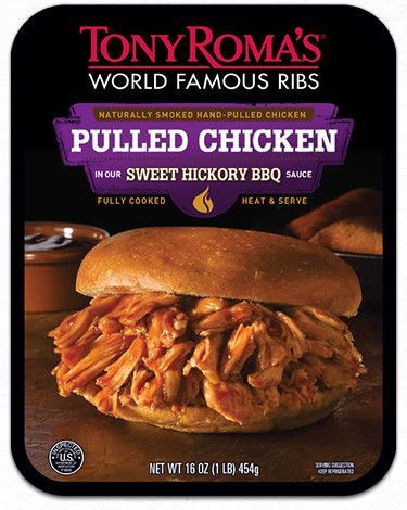 Tony Roma S Sweet Hickory Bbq Pulled Chicken Unavailable