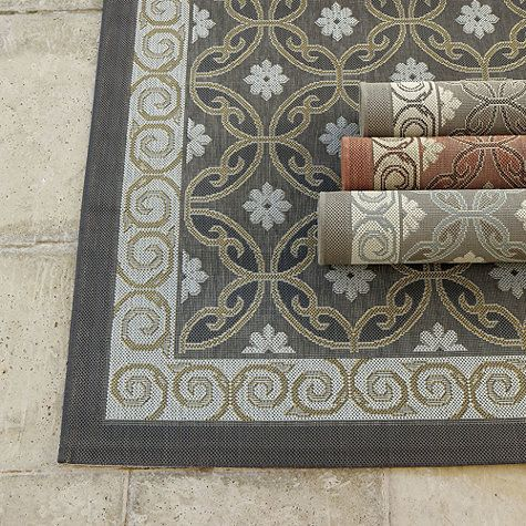 The Ravello Indoor Outdoor Rug Has A Mediterranean Tile Motif And Is Hand Tufted In Graded Shades Of Color To Create Rich Dimensional Look
