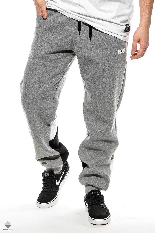 Spodnie Prosto Slant Calf Szary Czarny Bialy Mens Outfits Clothes Street Wear
