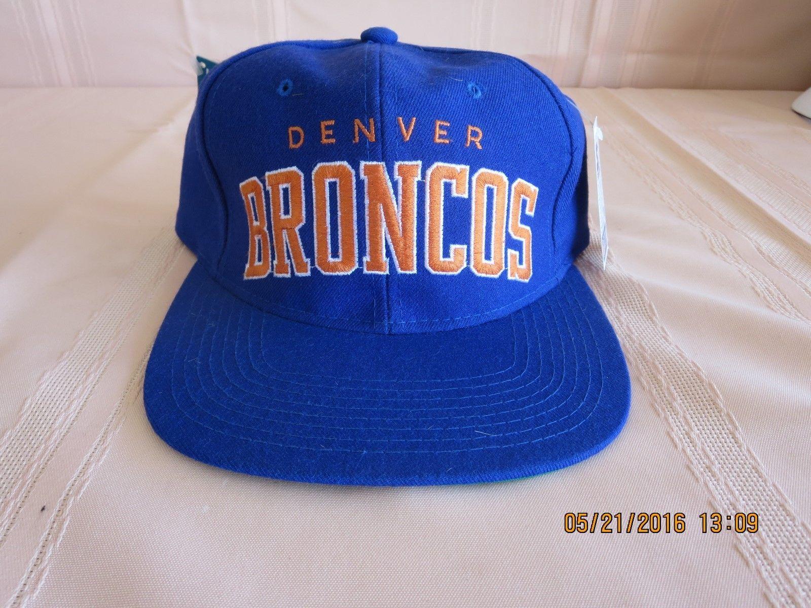 7198be688cd New Vintage Starter Denver Broncos Snapback Adjustable Cap Hat Block Letter  NFL