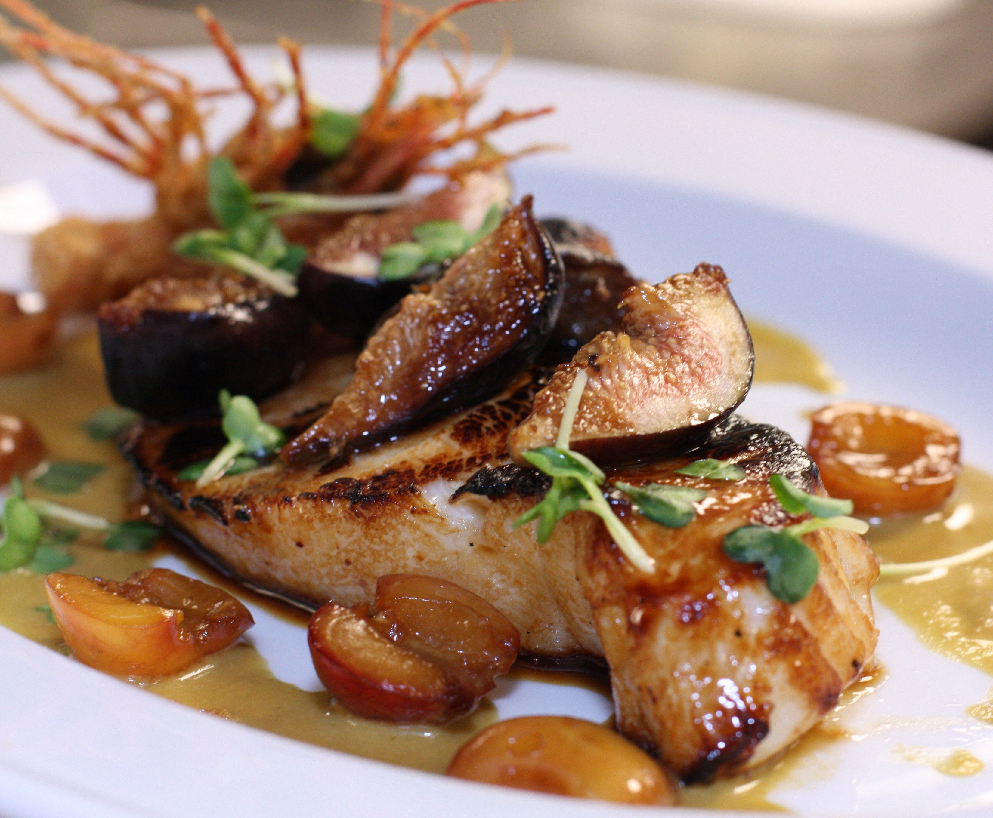 Miso glazed mero sea bass recipe glaze catering for Hawaiian fish recipes