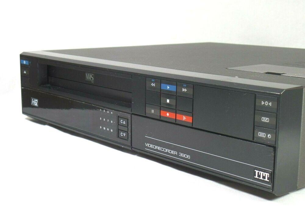 Original Vintage ITT VHS videorekorder 1985 Retro Tech ... on