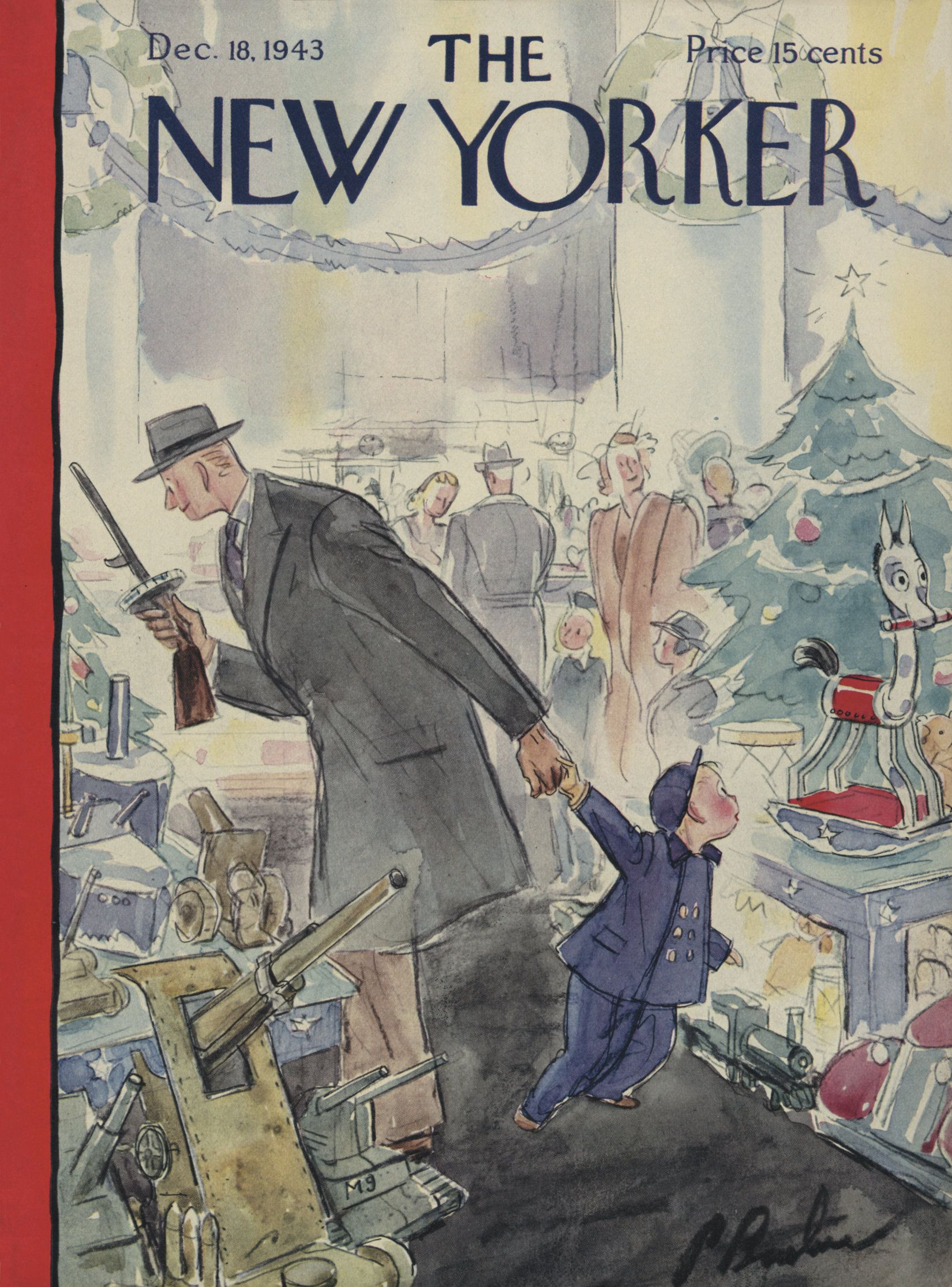 The New Yorker December 18 1943 Issue The New Yorker New Yorker Covers Cover Artwork