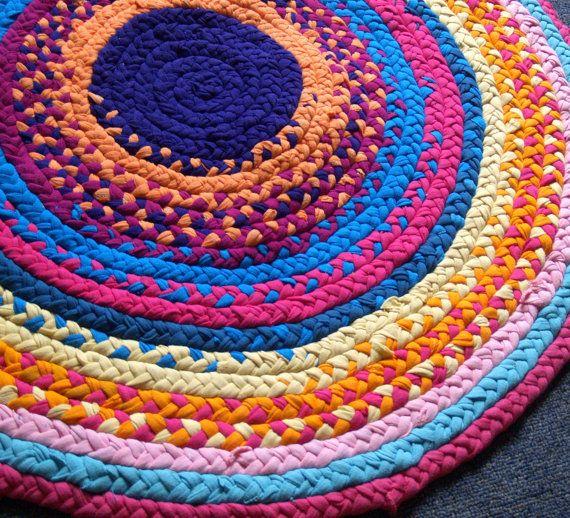Pink Rag Rug For Nursery Or Kid's Room By