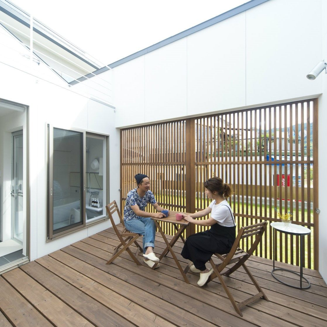 中庭をプライベート空間にすることで 様々な使い方ができます