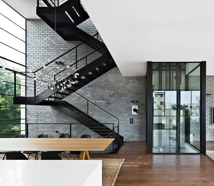 Stunning Staircase And Elevator Design Ideas: Modern Stair And Glass Elevator - Google Search