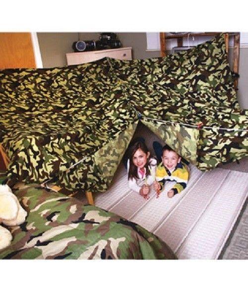 Camo Build Fort Kit Kids Play Indoor Outdoor Tent