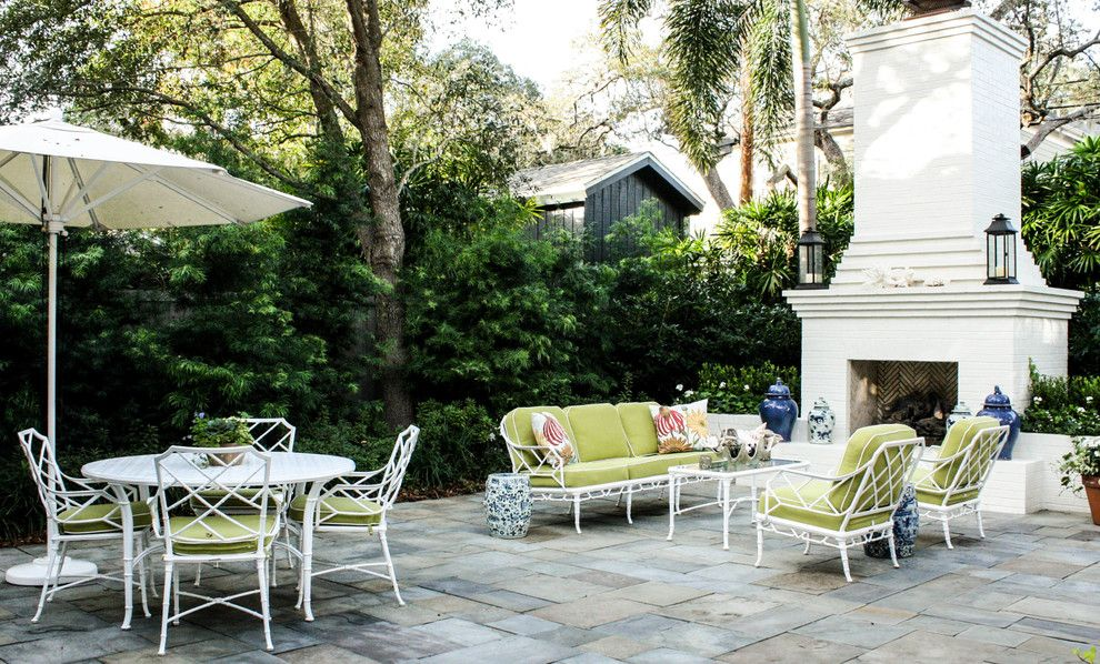 Outdoor Fireplace Plans Free Patio Traditional with Blue and White ...