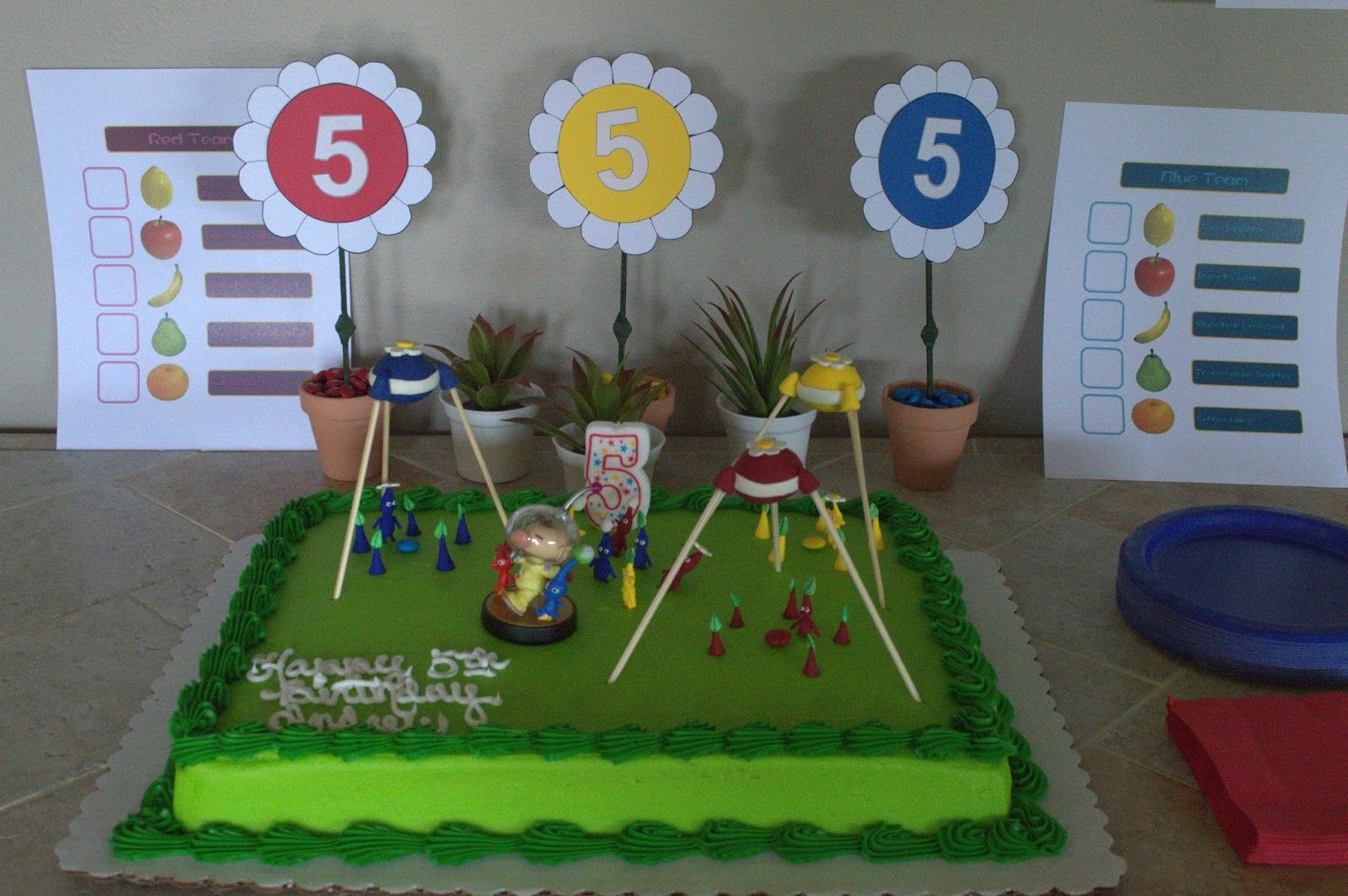 Andrews Pikmin Birthday Party