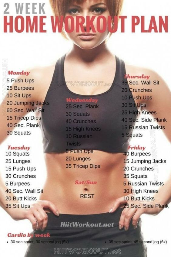 If you want to lose weight, gain muscle or get fit check out our men's and women's workout plan for...