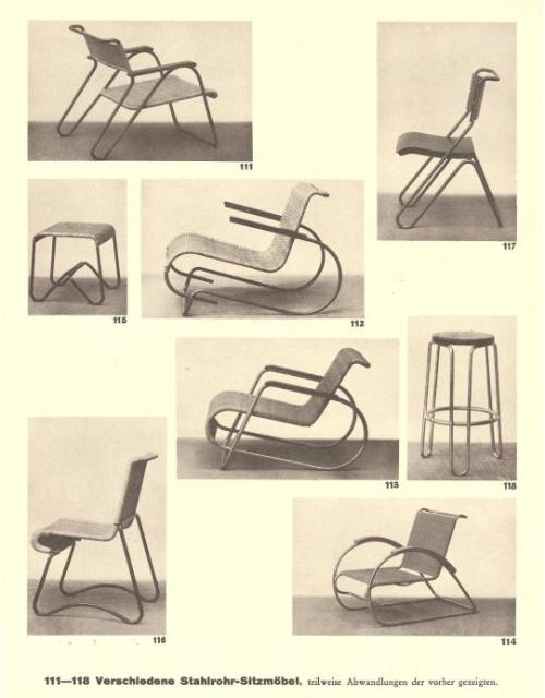 Erich Dieckmann, Furniture design in wood, wicker and steel