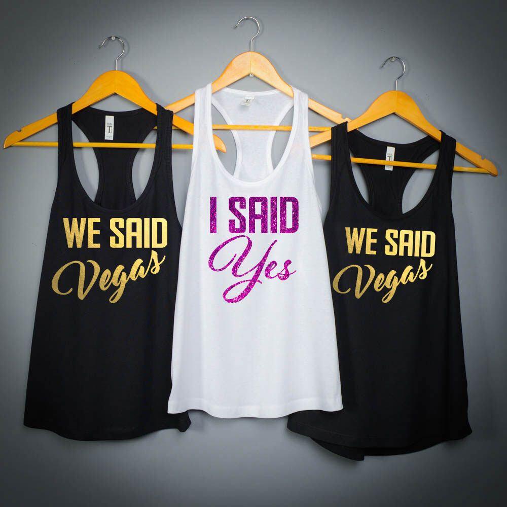 9f8476e9 Bridesmaid Shirts, I Said Yes, Bachelorette Party Shirts, Tiffany, Bachelorette  Shirts
