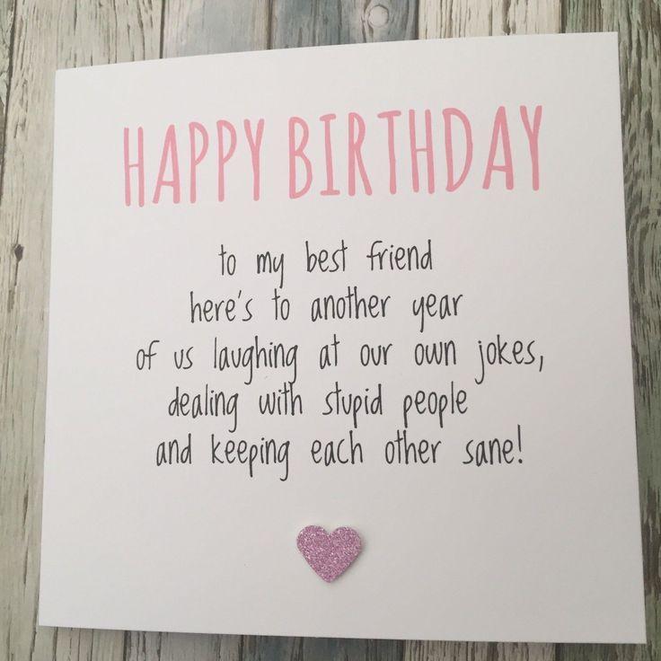 225 gbp funny best friend birthday card bestie humour