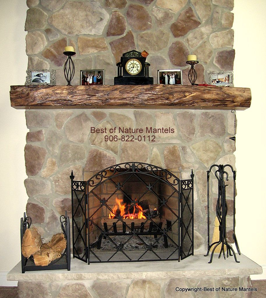 Home Design and Interior Design Gallery of Old Design With Stone Fireplace  Mantels. woodwn mantle shelf - Rustic Fireplace Mantel Shelves Decor Featuring Oak Wood Mantel