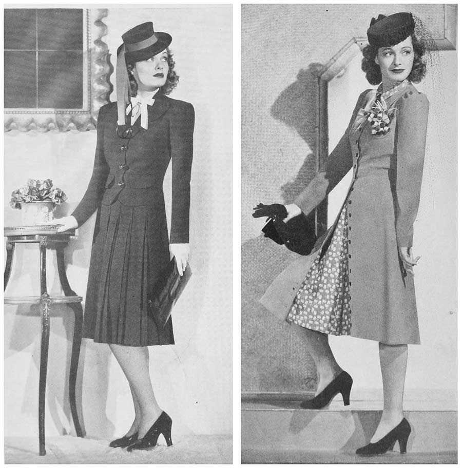 1940s Fashion Early Summer Suits 1940 Ellen Drew Sewing Inspiration Pinterest 1940s