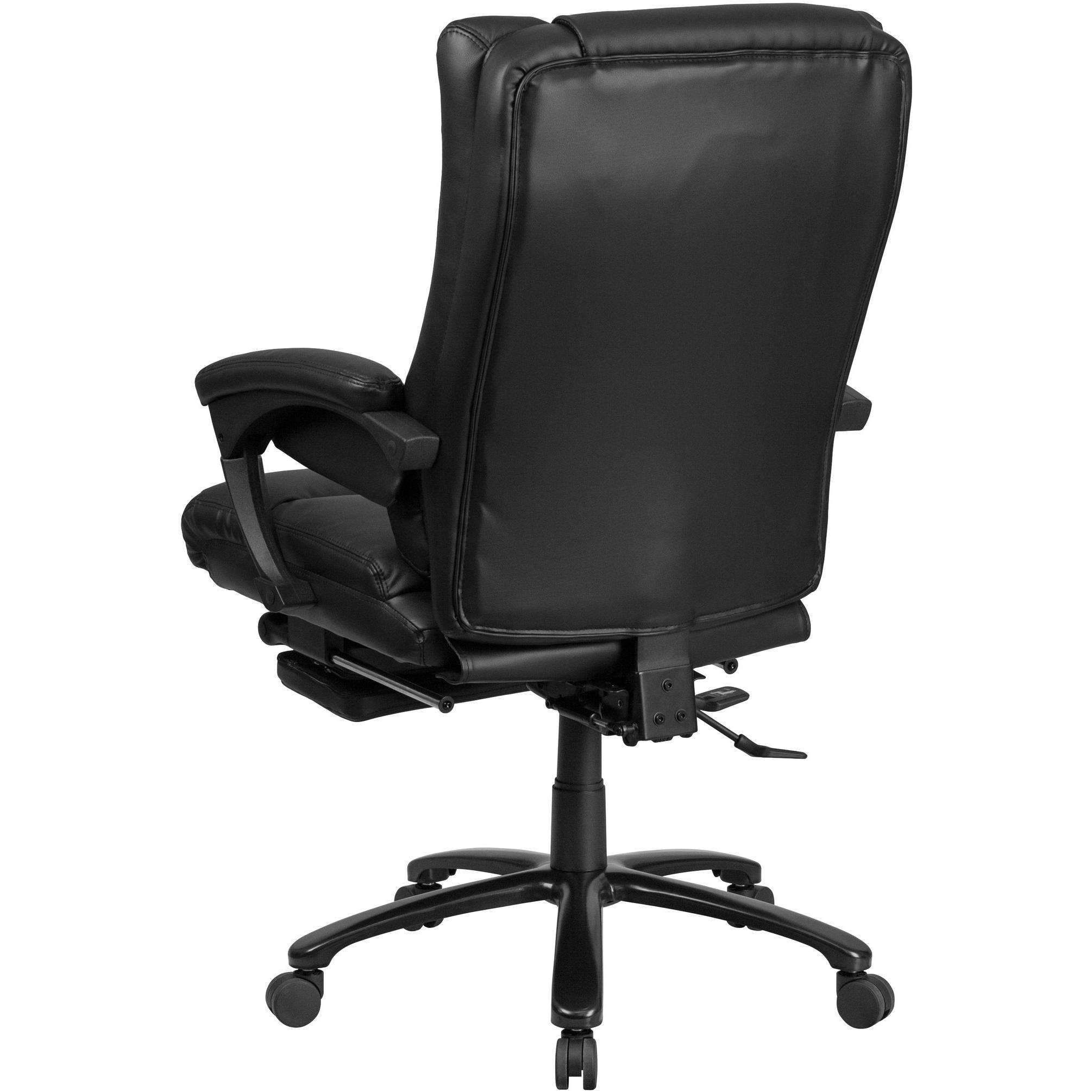 High Back Black Leather Executive Reclining Swivel Office Chair With Lumbar Support Office Chair Chair Comfy Leather Chair