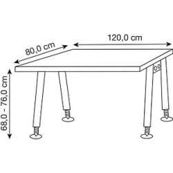 Photo of Hammerbacher As12 height-adjustable desk gray rectangular HammerbacherHammerbacher